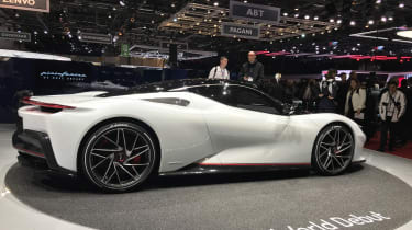 Pininfarina Battista at Geneva Motor Show 2019 white side
