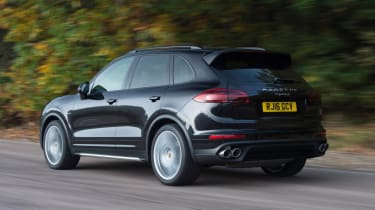 Used Porsche Cayenne - rear action