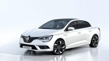 New Renault Megane Grand Coupe - studio front quarter 2