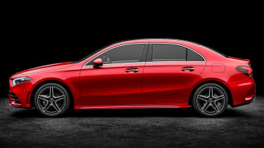 Mercedes A-Class saloon - red side