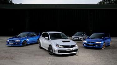 Subaru Impreza Cosworth group shot