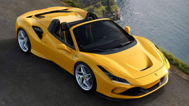 Ferrari F8 Spider - front above