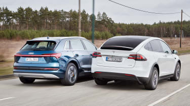 Audi e-tron vs Tesla Model X - rear