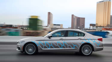 BMW 5 Series Personal CoPilot autonomous prototype  side