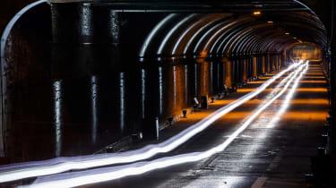 Jaguar F-Type SVR Tunnel Run - lights