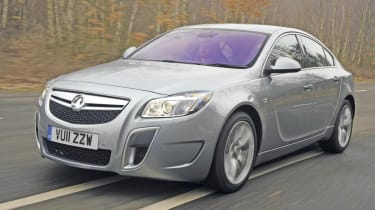 Vauxhall Insignia VXR front track