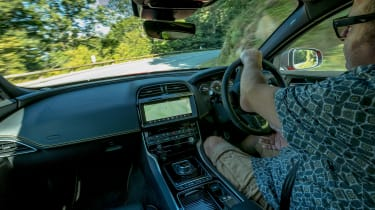 Jaguar XE interior on Cleremont Ferrand