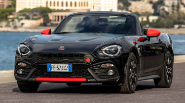 abarth 124 70th anniversary static front quarter