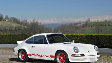 Amongst the numerous Italian lots at the Villa Erba auction is this Porsche 911 Carrera RS Sport Lightweight.