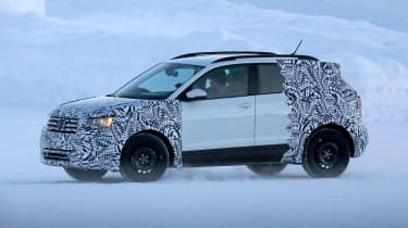 Volkswagen T-Cross - spy shot side