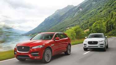 Jaguar F-Pace red and white