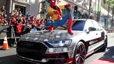 New Audi A8 spiderman premier