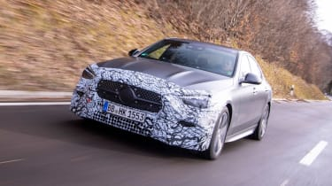 Mercedes C-Class prototype - front tracking