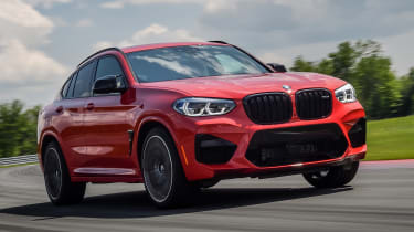 BMW X4 M Competition - front tracking