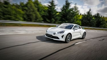 Alpine A110 ride review - front