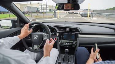 New Honda Civic ride interior