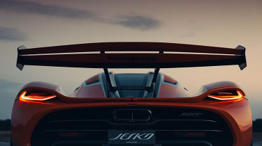 Koenigsegg Jesko 2021 production car - rear wing