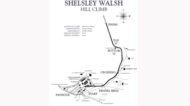 Shelsley Walsh Hillclimb map