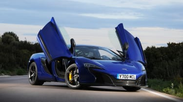 McLaren offer twin-spoke forged alloys as standard with the 650S.
