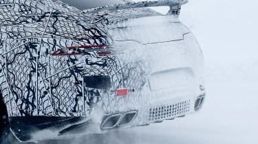 Mercedes AMG GT four door spy shot rear detail