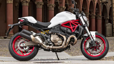 Ducati Monster 821 review - stand