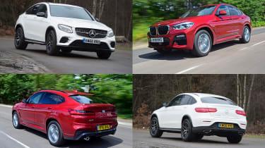 BMW X4 vs Mercedes GLC Coupe - header