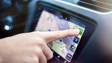 what3words sat-nav in car