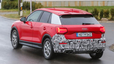 Audi SQ2 - red spied rear