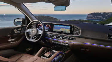 Mercedes GLS - grey dash