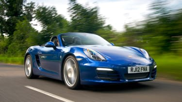 Porsche Boxster - blue front tracking