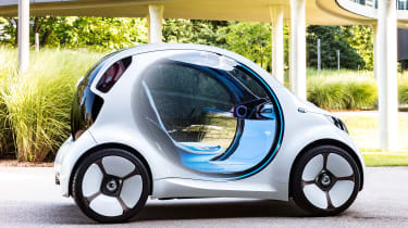 Smart Vision EQ ForFour concept - side static