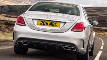 Mercedes C63 AMG saloon - rear action