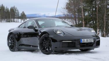 Porsche 911 spy shot - daytime side/front