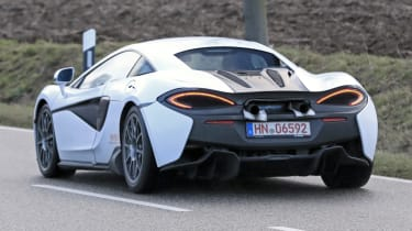 McLaren sports series spy - rear