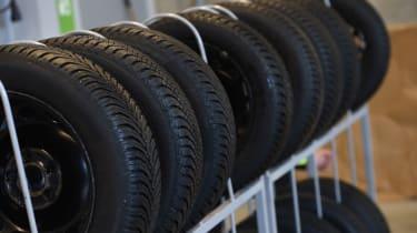 2017/18 winter tyre test - tyre rack