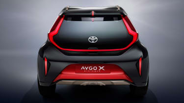 Toyota Aygo X prototype - studio full rear