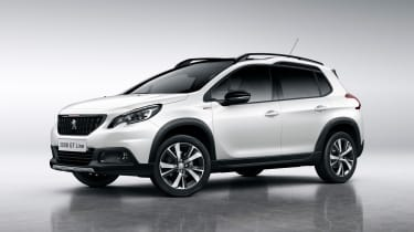 Peugeot 2008 2016 - white front quarter 2