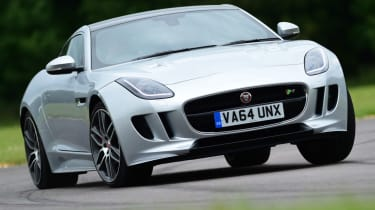 Jaguar F-Type R Coupe front cornering
