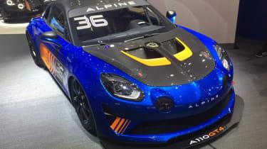 Alpine A110 GT4 front quarter