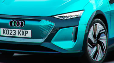 Audi electric supermini - front detail (watermarked)
