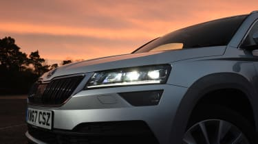 Skoda Karoq - headlights on