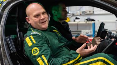 Lotus Evija - Gavan Kershaw in car
