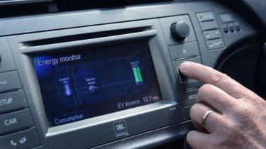 Living with an EV - Toyota Prius infotainment