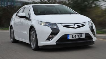 The Vauxhall Ampera is a range-extending electric car and the UK sister to the Chevrolet Volt.
