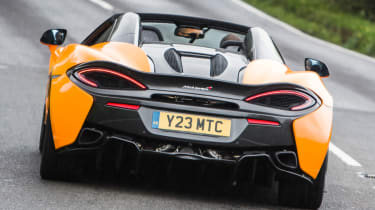 Mclaren 570s review - rear action