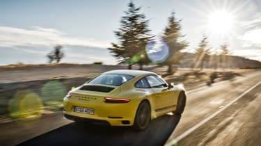 Porsche 911 Carrera T - rear sunset