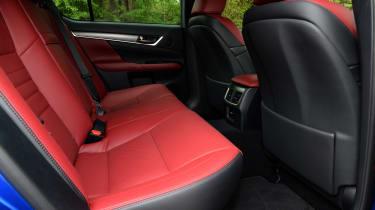 Lexus GS 450h F Sport - rear seats