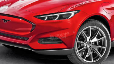 Baby Ford Mustang Mach-E - front detail (watermarked)