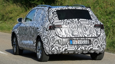 Volkswagen Polo SUV - spy shot rear tracking 3