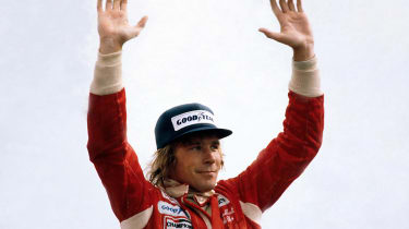 James Hunt wins the British Grand Prix in 1977